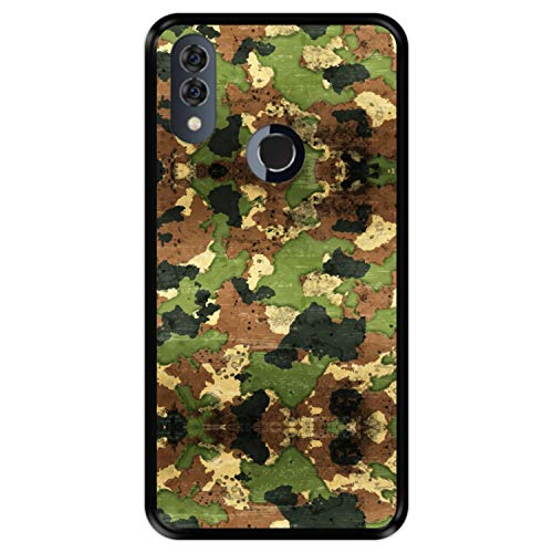Hapdey Funda Negra para [ Alcatel 5V ] diseño [ Patrón Militar de Camuflaje ] Carcasa Silicona Flexible TPU