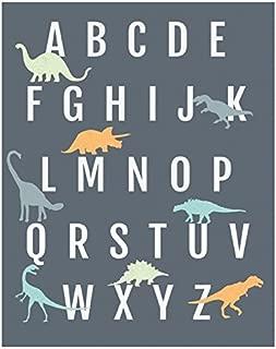Dinosaur Alphabet Wall Art Print 05x07 Inch Print, Nursery Decor, ABC Poster, Kid's Room Decor, Gender Neutral Nursery Decor, Baby Room Decor, Playroom Decor, Children Wall Art, Dinosaur Nursery