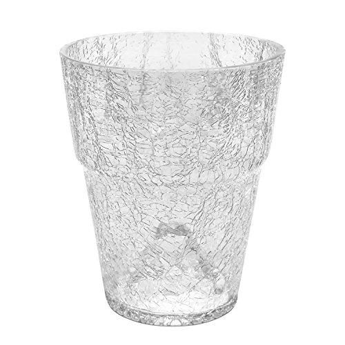 Blumentopf Orchideentopf Orchidee H 210 mm D 175 mm Glas Übertopf Kristall Glasscherben transparent