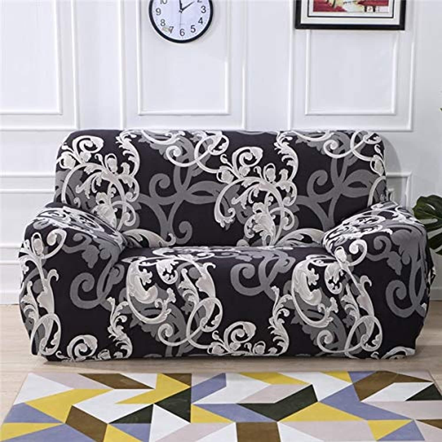 Monstera Elastic All-Inclusive Slipcovers Corner Sofa Covers Sectional Sofa Cover Spandex Stretch Predective Couch Cover   16, Single Seater