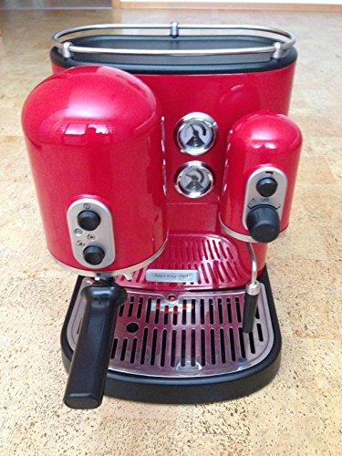 Kitchenaid 5KES2102EER - Cafetera de espresso, 1300 W, color rojo