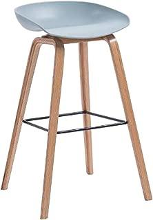 DLDL Tabouret Bar Minimaliste Moderne Bois Massif  Couleur  2  Taille 63cm