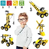 Pakoo STEM Toys Building Toys,8 in 1 Construction Toys for 5 6 7 8 9 10 + Year Old Boys&Girls,100 Pieces STEM Building Blocks with Screwdriver Wrench Tool,Creative Gift Engineering Toys for Kids