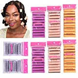 80pcs Perm Rods Jmbo Large Medium Small Size Curler Perm Rods for Natural Hair Cold Wave Rods Hair...