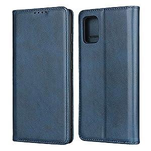 FAWUMAN Hülle Flip Case für Samsung Galaxy A51,Magnetische Klapphülle Handyhülle mit Standfunktion Ledertasche TPU Bumper Wallet Case für Samsung Galaxy A51 (Blau)