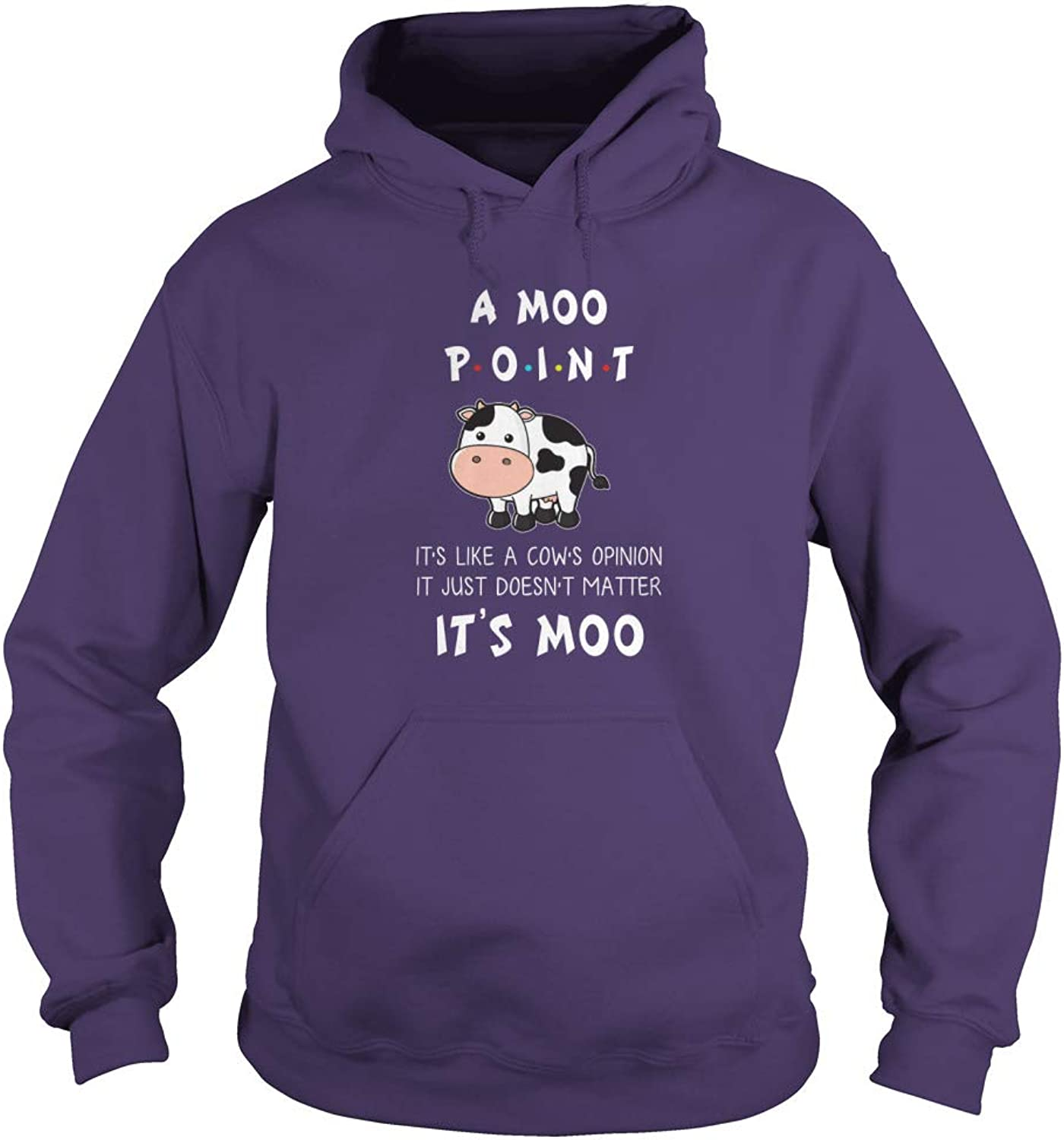 TeeWarrior A Moo Point It's Like A Cow's Opinion It Just Doesn't Matter It's Moo TShirt