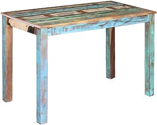 vidaXL Esstisch Altholz Esszimmertisch Küchentisch Speisetisch Holztisch Tisch Mesa de Comedor (Madera Envejecida) Teca ...