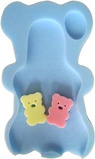 Naisicatar Amortiguador cómodo del baño del bebé Esponja Anti bacteriana y Skid Prueba Baño Mat (Azul) del Bonito Regalo