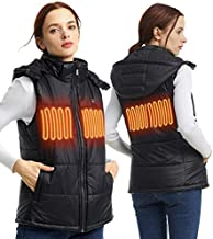 Heated Vest Ladies Hunting Clothing Lightweight Cotton Battery Included Black 4-6