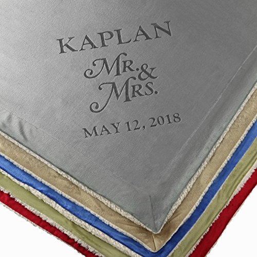 Custom Catch Personalized Unique Wedding Couple Gifts - Anniversary, Engagement Gift Blanket (Mr & Mrs)