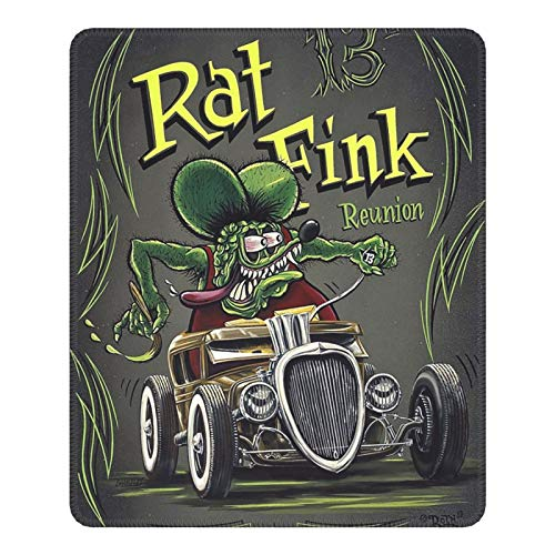 Adynztee Tales of The Rat Fink Fine Seaming Mouse Pad Natural Non-Slip Rubber Home Office Computer Gaming Mouse Pad 9.8' X 11.8' X 0.12' Inches