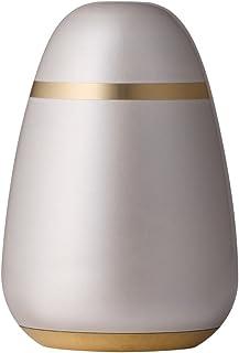 ソウルプチポット ミニ骨壷 パレットエッグ パールホワイト 真鍮 手元供養 分骨用 ミニ骨壺 670 白色