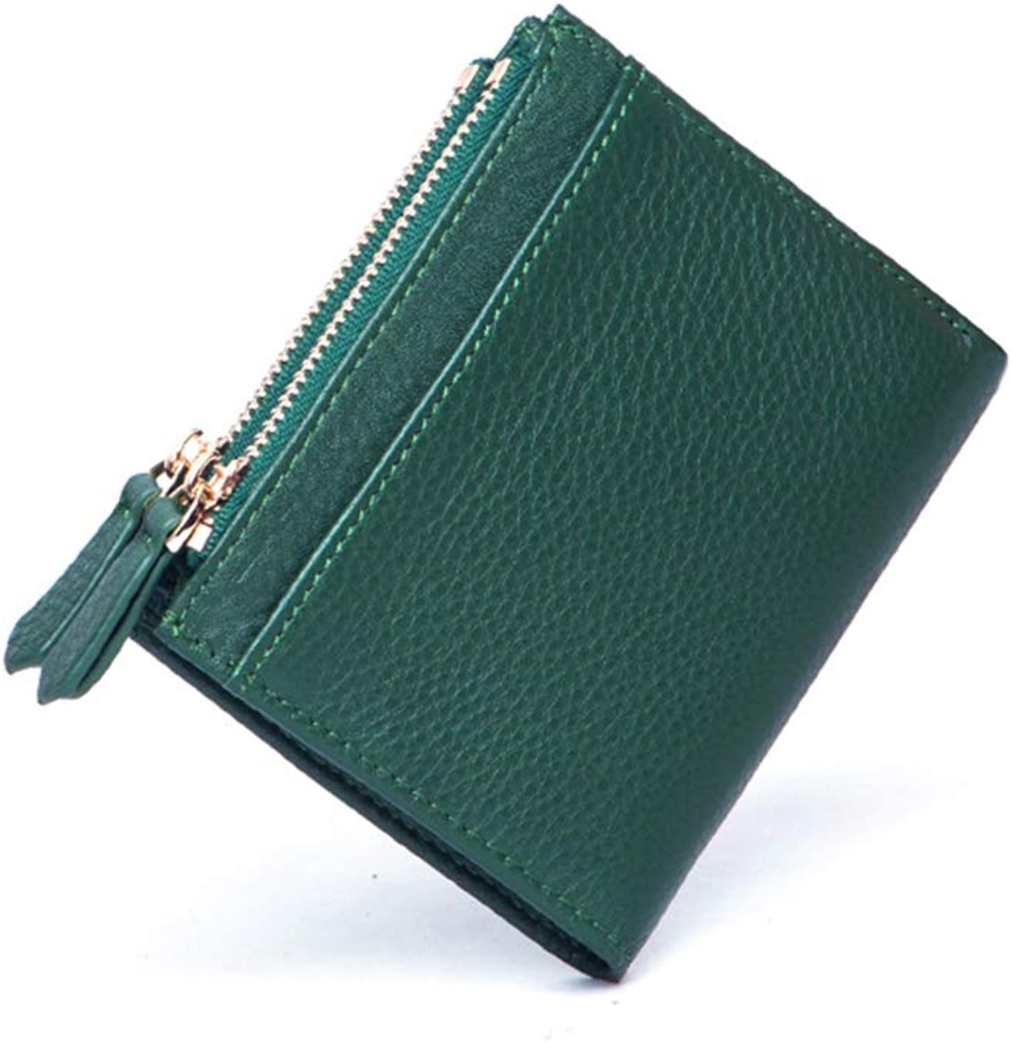 HGXC Small Wallet Women's Short Mini Simple Folding Small Wallet MultiFunction Coin Purse
