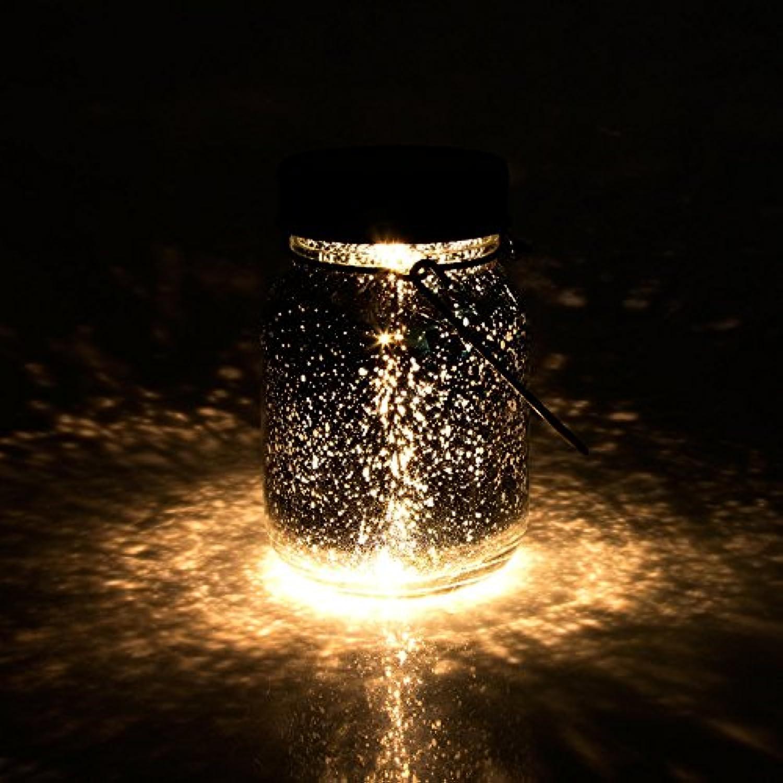 Solarlampe Solar-Laterne mit Haken, Wasserdichte Solar Jar Sun Jar für Garten und Outdoor LED Laterne Hngeleuchten, von AGPTEK SJ, Warm Wei