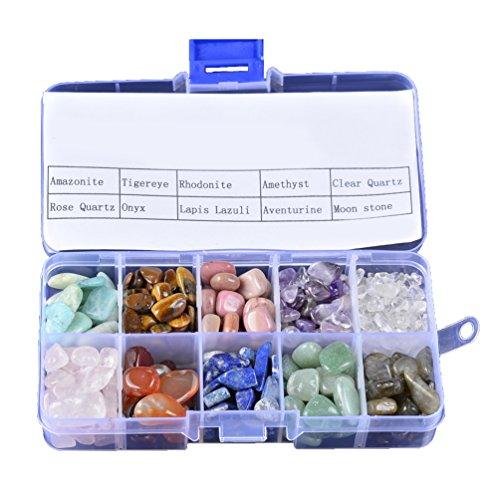 Piedras de cuarzo de cristal con caja 210 g 10 piedras naturales...
