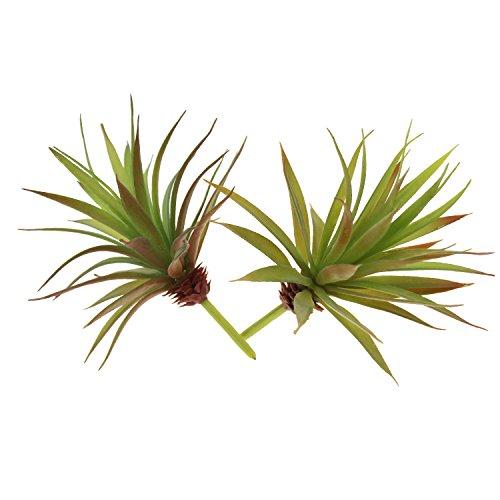 2 Stück künstliche, natur-getreue Pflanzen, nicht eingetopfte Sukkulente / Yucca-Palme fürs Gewächshaus, für Zuhause, den Garten, als Dekoration, in verschiedenen Farben Autumn Green