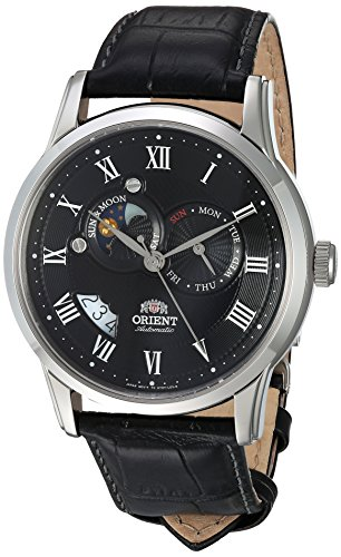 "Orient Classic""Sun and Moon"" Automatic White Dial Men's Watch (Model:FET0T002S0)"