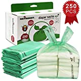 Baby Disposable Diaper Bags – 100% Biodegradable Diaper Sacks with Baby Powder Scent