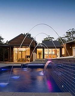 Warmpool Cascada acrílica 90 cm LED empotrable con Mando y Fuente de Alimentación para Piscina o Fuente