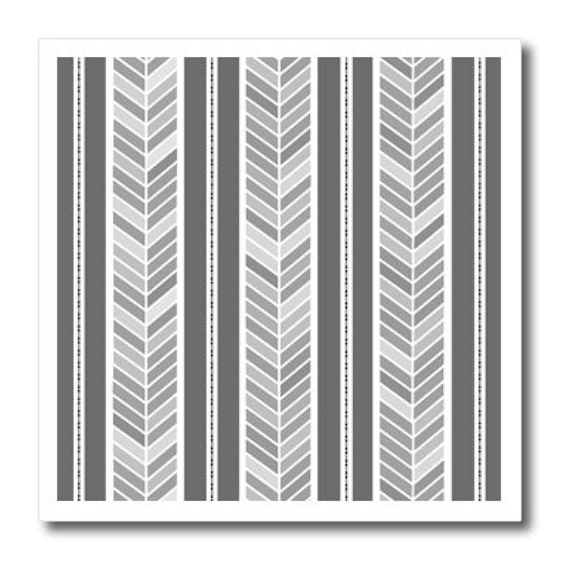 3dRose ht_193769_3 Grey Herringbone Pattern Gray Tribal Chevron Arrow Feather Stripes Iron on Heat Transfer, 10 by 10