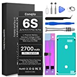 [2700mAh] Battery for iPhone 6S (2021 New Version), Conqto New Upgrade 0 Cycle High Capacity Battery Replacement for iPhone 6S Model A1633,A1688,A1700 with Complete Professional Repair Tools Kits