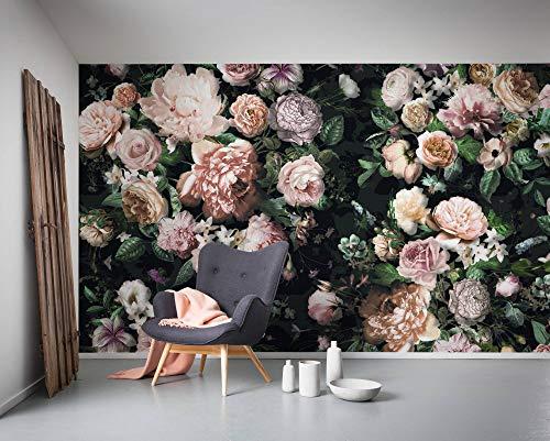 Komar Vlies Fototapete VICTORIA BLACK, 400 x 250 cm (Breite x Höhe), Tapete, Schlafzimmer, Wohnzimmer, Flur, Design, Dekoration, Wanddeko