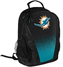 FOCO NFL Miami Dolphins Logo Gradient Print Primetime Deluxe Backpack, Team Color, Standard, One Size