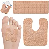 48 Pieces U-Shaped Felt Callus Pads Metatarsal Foot Pads for Pain Relief Protect Calluses from Rubbing on Shoes Forefoot and Support Self-Adhesive Foam Foot Cushion Pad for Men and Women