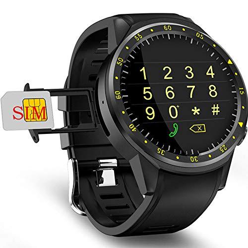 ZYD F1 Smart Watch Mit Kamera-Unterstützung SIM-Karte GPS-Uhr Puls-Sport-Smartwatch Männer Für IOS Android Schwarz