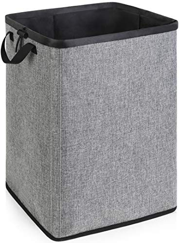 70L Large Dirty Clothes Basket with Removable Liner Lightweight Laundry Basket Collapsible for Small Space Tall Sturdy Laundry Basket with Handles for Bedroom Bathroom Closet Clothing Organization