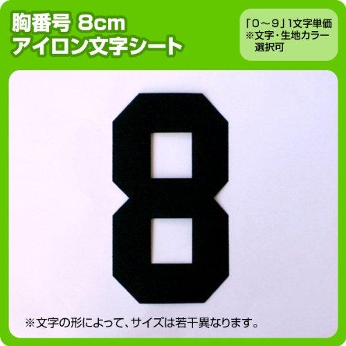 数字ナンバーワッペン(8cm) ※1〜9まで1文字単位でお申込み頂けます 生地:フェルトタイプ ゴシック(緑)