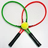 Land-Haus-Shop 4 TLG. Tennis Set für Kinder und Jugendliche , 2 Tennis Schläger, 1 Tennis Ball, 1 Tasche, Beach Strand Garten Ball Spiel