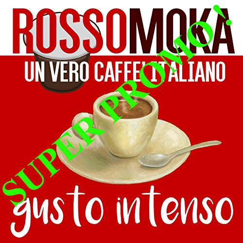 Rossomoka Lungo Crema Intenso, 100 Kapseln Nespresso Kompatibel, Espresso Italiano