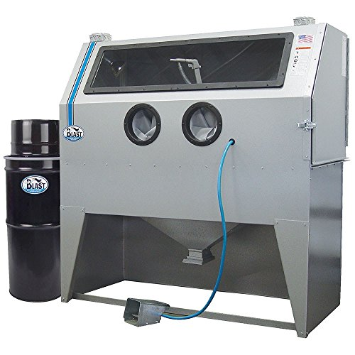 "TP Tools USA 2858 Skat Blast Sandblast Sandblasting Cabinet with HEPA Vacuum, 58""W x 28""D x 28""H Work Area, Made in USA"