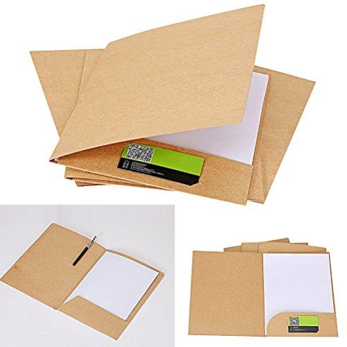 NUOLUX Carpeta de papel kraft marrón, carpeta de presentación de papel kraft A4, 20 unidades