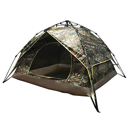 Rahmen Zelte Outdoor-Double Deck Automatische 3-4 Personen Dick Regenfest-Zelt Sonnenschutz Family Camping-Zelt Ideal für Camping Wandern Außen (Color : Camouflage, Size : 3-4 Persons)