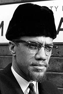 Malcolm X In London Rare Close Up B&W 24X36 Poster
