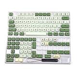 Matcha Dye Sub ZDA PBT Keycap Similar to XDA Japanese Korean Russian for MX Keyboard 104 87 61 Melody 96 KBD75 ID80 GK64 Tada68(Only Keycap) (English Base Kit)