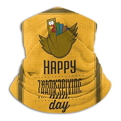 NA Bandeau Anti-Poussière,Joyeux Thanksgiving Day Turquie Headwear Headband, Élégant Protection du Visage Premium pour Ride Women Men,26X30Cm