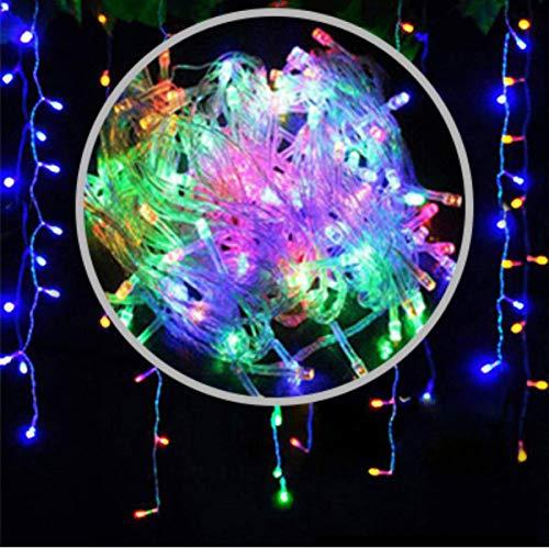 Luces De Cortina Led Luces De Tiras De Hielo, Luces Decorativas Impermeables De La Calle Al Aire Libre 5 X 0,8 Metros Luces De Cuerda Enchufables Luces De Vacaciones 4*0.6m Color