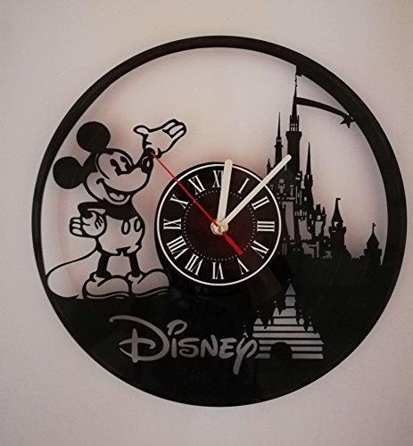 Geeks Stuff Walt Disney Mickey Mouse – Reloj de Pared Hecho a Mano con Vinilo, Diseño de Mickey Mouse,…