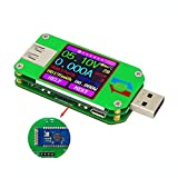 DollaTek UM24C USB 2.0 Leistungsmesser-Tester USB-Multimeter Farbe LCD-Anzeige Spannung Stromzähler Voltmeter Batterieladung Messen Sie den Kabelwiderstand mit Bluetooth