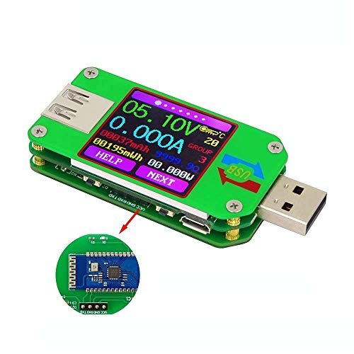 DollaTek UM24C Misuratore di Potenza USB 2.0 Tester Multimetro USB Display LCD a Colori Tensione Corrente Meter Voltmetro Carica Batteria Misura di Resistenza del Cavo con Bluetooth