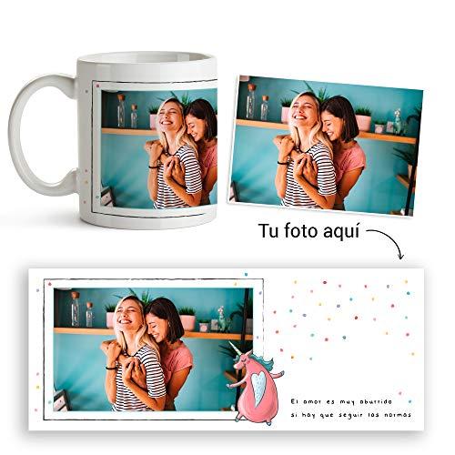Fotoprix Taza Personalizada con Foto y diseño 'Amor SIN Normas' | Regalo Original LGBT - Free Love | Varios diseños (Sin Normas)