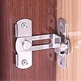 2 pequeñas hebillas del pestillo de la puerta de ángulo recto de 90 grados pestillos curvados pestillos de la palanca de bloqueo deslizante para puertas y ventanas