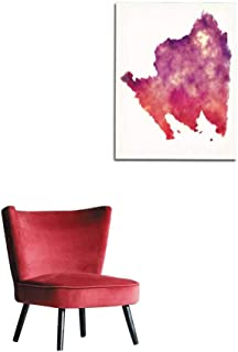 longbuyer Wall Paper Lampung Province map of Indonesia in Front of a White Background Mural 20