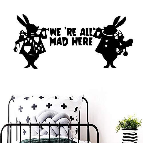 BailongXiao Romantische Kaninchen Dekoration Wohnzimmer Schlafzimmer Moderne acryl dekorative wandkunst wandbild 43x19 cm