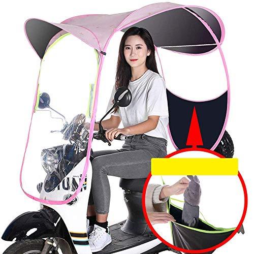 XJZKA Cubierta de Lluvia para Motocicleta, Cubierta Transparente para Viento y Lluvia, Motor Universal, Scooter, Cubierta para Lluvia para sombrilla para Bicicleta de Ciclismo, Cubierta