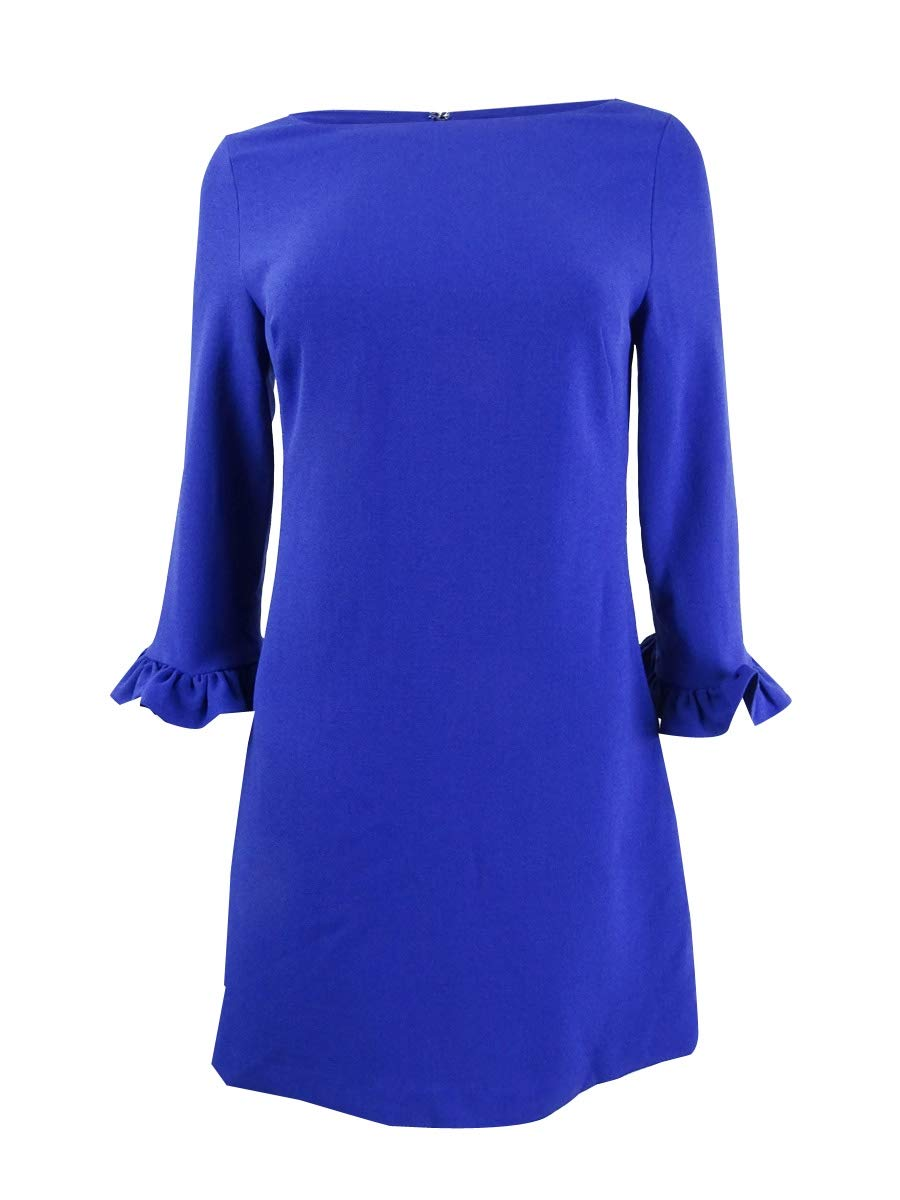 Available at Amazon: Jessica Howard Women's Petite Bell-Sleeve Dress (4P Royal) Blue