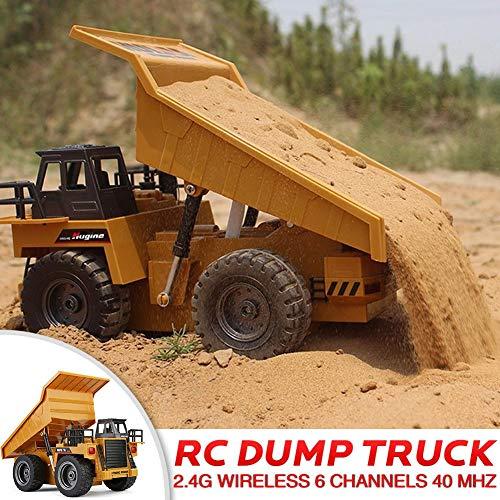 RC Auto kaufen LKW Bild 5: likeitwell 2.4G 6-Kanal-Vollfunktions-LKW 1:18 ferngesteuertes Kipper-Baufahrzeug-Spielzeug für Kinder*